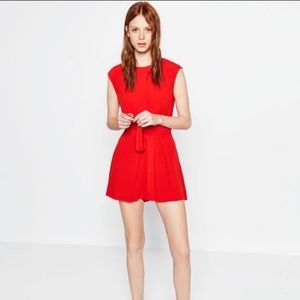 New Zara red playsuit